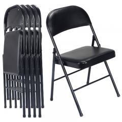 upholstered folding chairs with padded seat