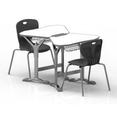 table et chaise d'école pour l'apprentissage collaboratif