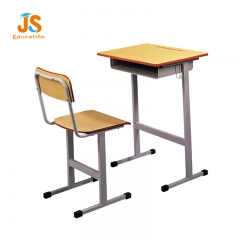 wooden student desk chair