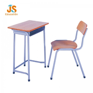 wooden student desk and chair
