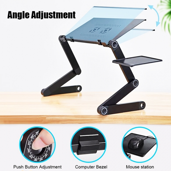 Réglable D'Ordinateur Portable De Lit, De Table, Portable, Ordinateur Portable, Station De Travail Support D'Ordinateur Portable De Lecture Titulaire Ergonomique Tour À Un Bureau Permanent