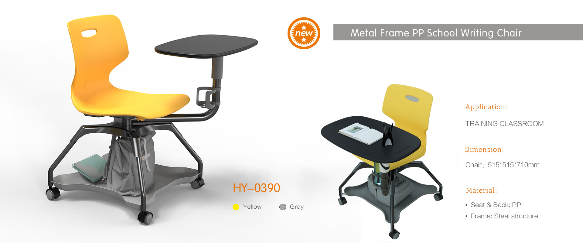New design training classroom writing chair